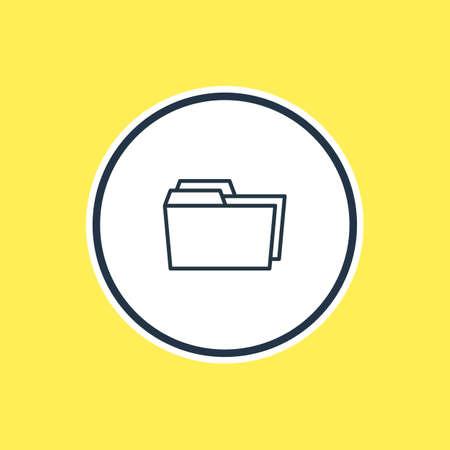 dossier: Dossier icon concept.