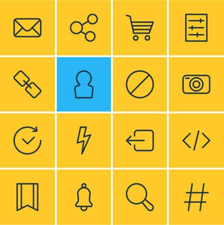 Annex icon concept. Illusztráció