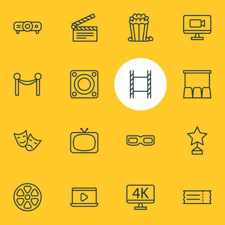 Movie icon concept. Illustration