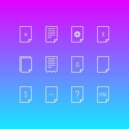 Files icon concept.