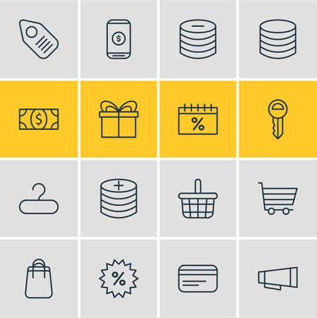 gift basket: Wholesale icon concept.