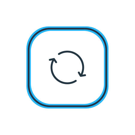 repeatability: Vector Illustration Of Sync Outline. Beautiful Storage Element Also Can Be Used As Synchronize Element.
