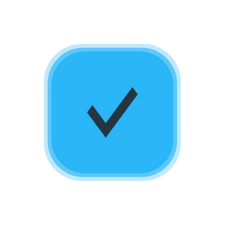 Vector Illustration Of Approve Icon. Beautiful Interface Element Also Can Be Used As Confirm Element. Illustration