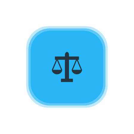 scale of justice: Vector Illustration Of Law Icon. Beautiful Map Element Also Can Be Used As Scales Element. Illustration