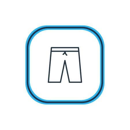 Illustration vectorielle de Shorts Outline. Bel élément de vêtements peut également être utilisé comme élément de troncs de natation. Banque d'images - 84473331