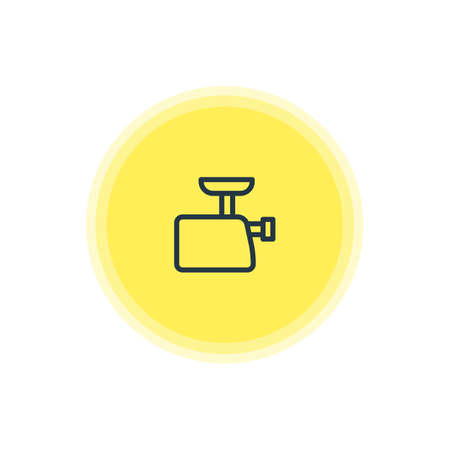 Vector Illustration Of Meat Grinder Icon. Beautiful Kitchenware Element Also Can Be Used As Mincer Element. Çizim