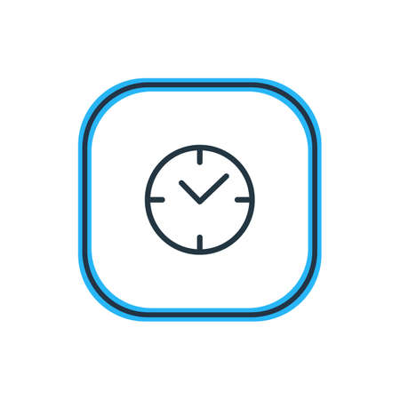 Vector Illustration Of Time Outline. Beautiful App Element Also Can Be Used As Clock Element.
