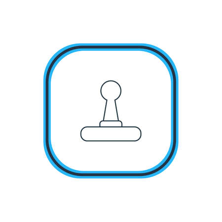 Vector Illustration Of Joystick Outline. Beautiful Notebook Element Also Can Be Used As Game Controller Element.