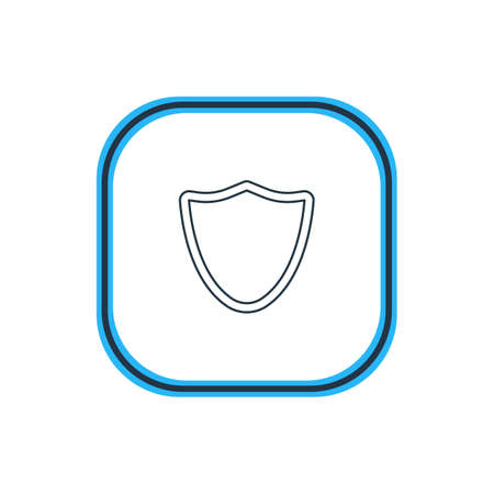 Beautiful Web Element Also Can Be Used As Safeguard Element.  Vector Illustration Of Shield Outline. Illustration