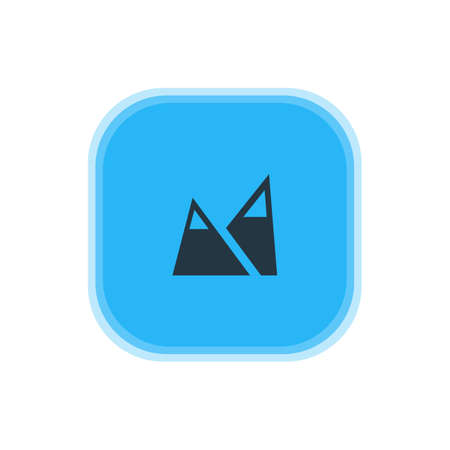 Beautiful Travel Element Also Can Be Used As Landscape Element.  Vector Illustration Of Mountain Icon.