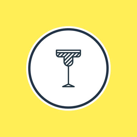 Beautiful Drinks Element Also Can Be Used As Cocktail Element.  Vector Illustration Of Martini Outline. Illustration