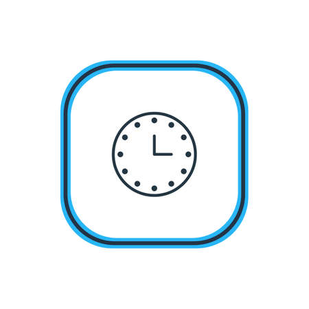 numeric: Beautiful Stationery Element Also Can Be Used As Watch   Element.  Vector Illustration Of Clock Outline.