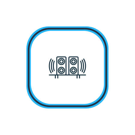 Beautiful Hardware Element Also Can Be Used As Loudspeaker Element.  Vector Illustration Of Speakers Outline.
