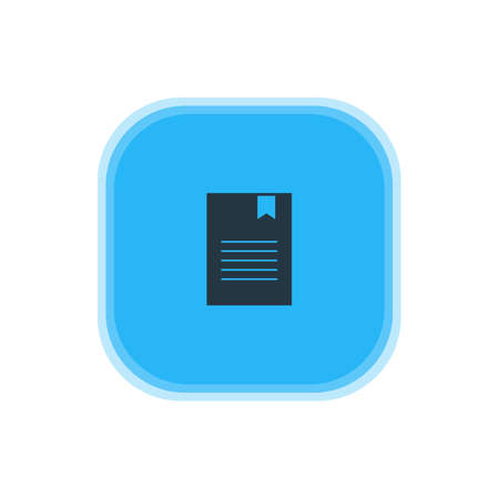 Vector Illustration Of Document Icon. Beautiful Internet Element Also Can Be Used As Bookmark Element.