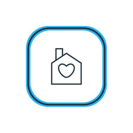 Vector Illustration Of House Outline