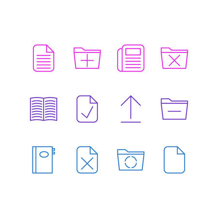 Vector Illustration Of 12 Workplace Icons