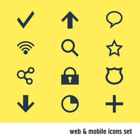 Editable Pack Of 12 smartphone related Icons. Illustration