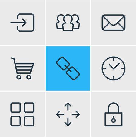 Vector Illustration Of 9 App Icons Illusztráció