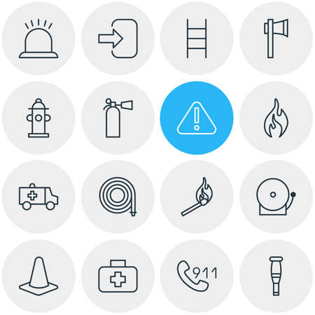 necessity: Vector Illustration Of 16 Necessity Icons