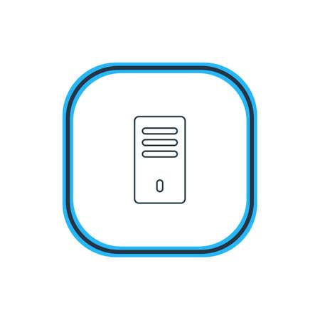 Illustrazione vettoriale del profilo dell'unità di sistema Archivio Fotografico - 84990937