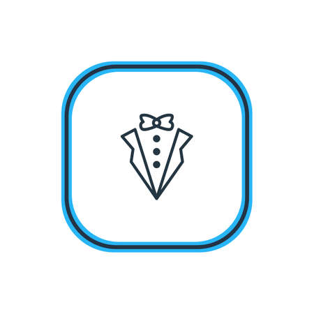 Vector Illustration Of Groom Suit Outline