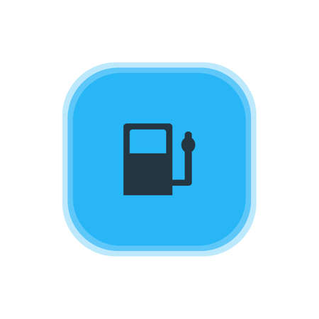 Vector Illustration Of Gas Station Icon. Beautiful Travel Element Also Can Be Used As Refueling Element.