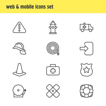 necessity: Vector Illustration Of 12 Necessity Icons. Editable Pack Of Exclamation, Medical Case, Water And Other Elements. Illustration
