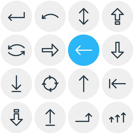Vector Illustration Of 16 Sign Icons. Editable Pack Of Shrift, Tab, Exchange And Other Elements.