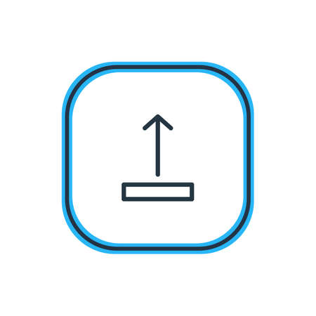 transmit: Vector Illustration Of Upload Outline. Beautiful Storage Element Also Can Be Used As Arrow Up Element.