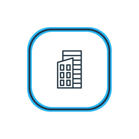 Vector Illustration Of Building Outline. Beautiful Industry Element Also Can Be Used As Apartment Element.