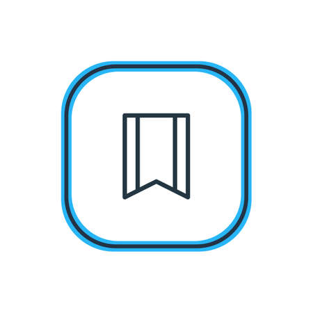 Vector Illustration Of Bookmark Outline. Beautiful Application Element Also Can Be Used As Pennant Element.