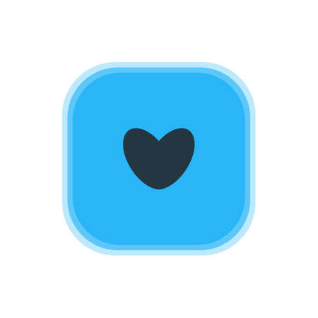 Vector Illustration Of Love Icon. Beautiful Map Element Also Can Be Used As Heart Element.