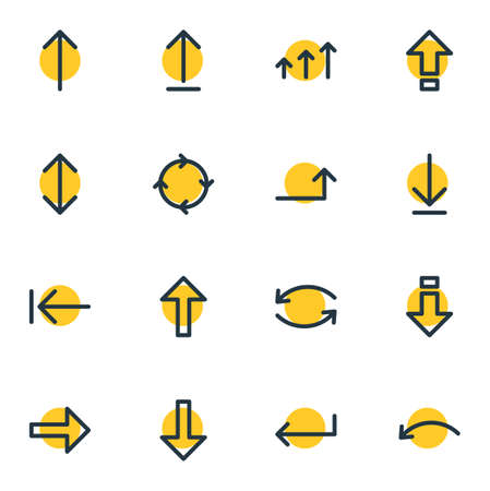 Editable Pack Of Exchange, Undo, Submit And Other Elements.  Vector Illustration Of 16 Direction Icons. Illustration