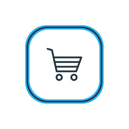 Illustration Of Buying Cart Outline. Which Can Be Used As Shopping Element.