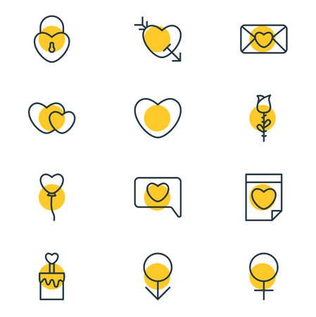 Editable Pack Of Messenger, Soul, Woman And Other Elements of Love Icons.