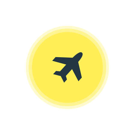 Beautiful Check-In Element Also Can Be Used As Aircraft Element.  Vector Illustration Of Airplane Icon. Ilustração