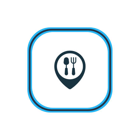 Beautiful Eating Element Also Can Be Used As Restaurant Element.  Vector Illustration Of Dinner Place Outline.