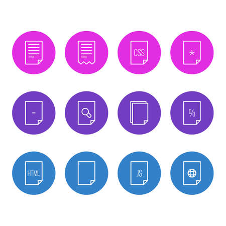 Illustration Of 12 Icons. Editable Pack Of Percent, Style, Internet And Other Elements.