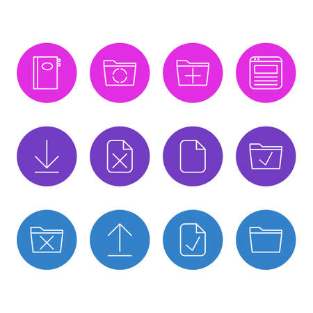 Set of workplace icon.
