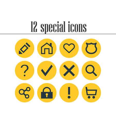questions: Set of interface icon. Illustration