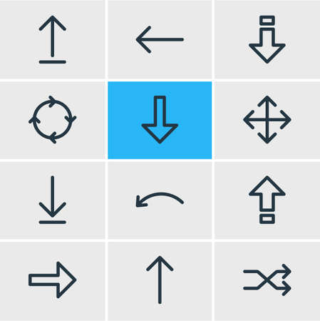 Set of directions icon.
