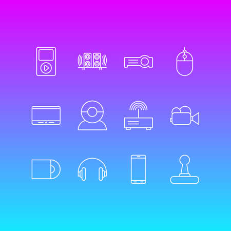 12 Gadget Icons