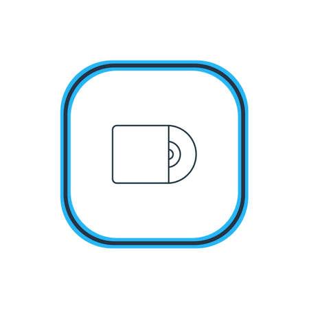 Illustrazione vettoriale di Cd Outline. Anche l'elemento musicale bello può essere utilizzato come un elemento disco compatto. Archivio Fotografico - 86089381
