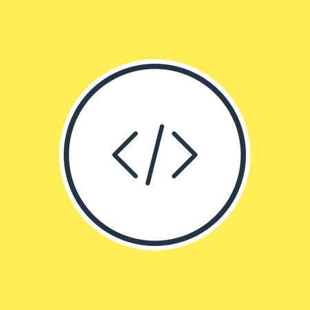 css: Vector Illustration Of Code Outline. Beautiful App Element Also Can Be Used As Script Element.