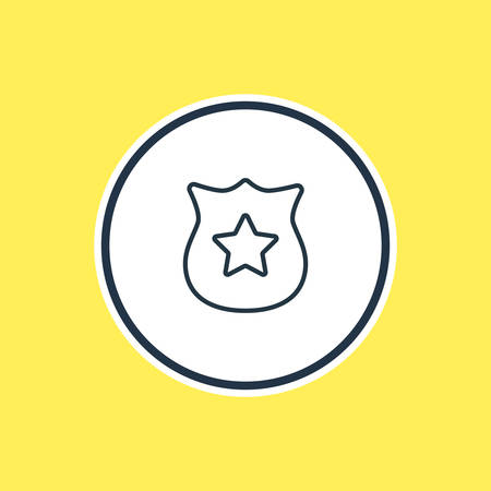 Vector Illustration Of Police Outline. Beautiful Emergency Element Also Can Be Used As Badge Element. Illustration