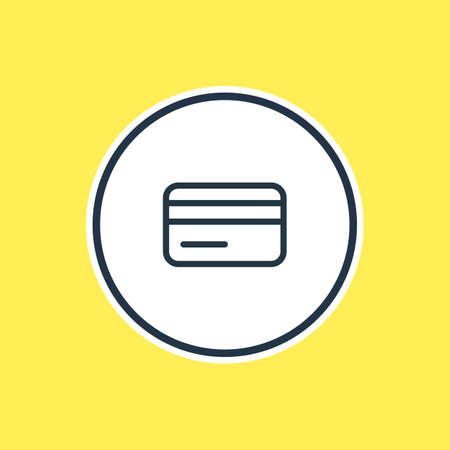 cash: Vector Illustration Of Credit Card Outline. Beautiful Annex Element Also Can Be Used As Payment Element. Illustration