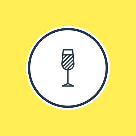 champagne celebration: Vector Illustration Of Wineglass Outline. Beautiful Beverage Element Also Can Be Used As Goblet Element.