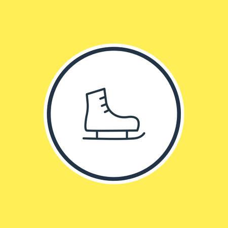 Vektor-Illustration der Skates-Gliederung. Schönes athletisches Element kann auch als Eisschuhelement verwendet werden.