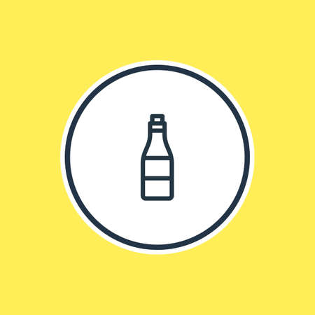 champagne celebration: Beautiful Joy Element Also Can Be Used As Beverage Element.  Vector Illustration Of Alcohol Outline.