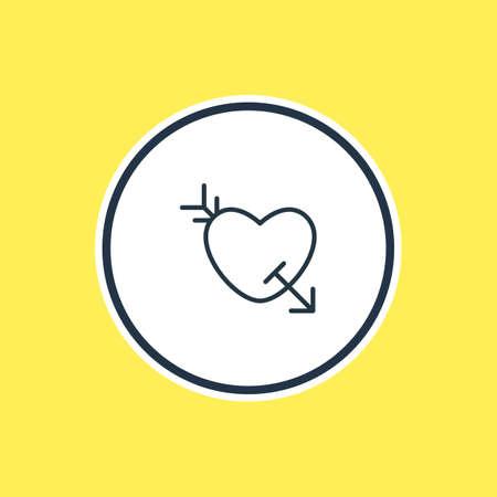 愛のアウトラインのベクター イラストです。美しい恋愛要素は、Arrow 要素としても使用できます。